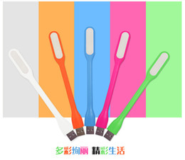 Wholesale Shipping Notebook Dhl - USB LED Lamp Light Portable Flexible Led Lamp for Notebook Laptop Tablet PC USB Power Bank Computer Small Night Light Free Shipping DHL AAA