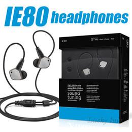 Wholesale Earphone Diy - IE80 DIY In-Ear HIFI Earphone Unique Sound Tuning & Superb Noise Isolation Wired Earphone High Quality Earplugs High Fidelity Earphone