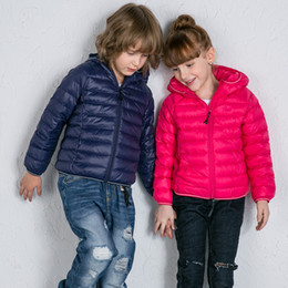 Wholesale Duck Outfits - Brand kid Down Windproof Memory Fabric Hooded Jacket Thicker Warm Coat Parent-child Outfit Seven Colours Leisure Daily Style