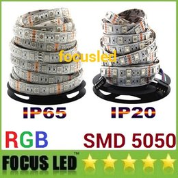 Wholesale waterproof led rope lights - 5050 Led RGB Strips Lights 12V Waterproof Led Rope Lights Strips 5M 300LEDs For Christmas KTV Bar Lighting