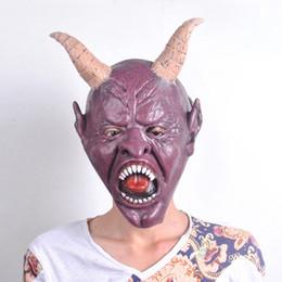 Wholesale Latex Horns - Cow Devil Mask Horn ,Creepy Cow Mask Head Novelty Latex Rubber Masquerade Halloween Masks Free Shipping cs1007