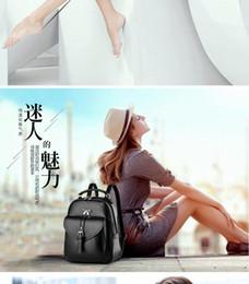 Wholesale Ladies Leisure Backpacks Brown - 2016 new shoulder bag female Korean version of spring models ladies bag backpack College Wind leisure travel tide pu leather bag