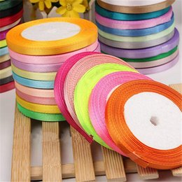 Wholesale Satin Ribbon Supplies - 6mm 25 Yard Pretty Silk Satin Ribbon 22M Wedding Party Decoration Invitation Card Gift Wrapping Scrapbooking Supplies Riband