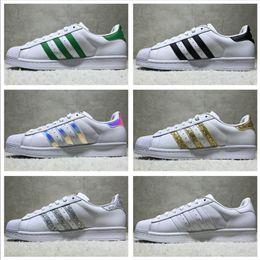 Wholesale Cotton Waterproofing - Adidas Originals Superstar White Hologram Iridescent Junior Superstars Sneakers Super Star Women Men Sport Running Shoes EUR36-45