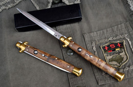 Wholesale Blade Figure - Best Value AKC knife 13 Inch Black Horn Figured Sycamore Handle Camping Collecting Hunting Knife Utility Outdoor Gear Knife F14L