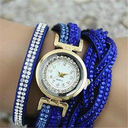 kristall diamant strass kleider Rabatt Luxuxfrauen-Diamant-Kleid-Uhrrhinestone-Armband-Uhr-Damen-Armband-Armbanduhr-Art- und Weisekristallarmbanduhren Armbanduhren Relogio