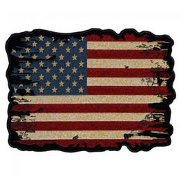 antiquités américaines Promotion Drapeau USA Style Antique Brisé Brodé Fer À Repasser Ou À Coudre Pour Taille De Poitrine 3 * 2.25 INCH Livraison Gratuite