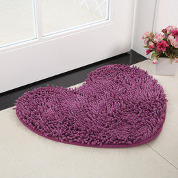 Wholesale Diy Carpets - 40cm*28cm Bath Mat Bathroom Carpet Kitchen Non-slip Mat Chenille Rug for Toilet Anti-slipping Absorbent Soft Mat Pad