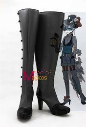 Wholesale Ciel Shoes - Wholesale-Anime Black Butler Kuroshitsuji Ciel Little Devil Fancy Boots Cosplay Party Shoes Custom-made