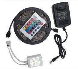 2019 luz de tira llevada rosh DC12V RGB LED Strip Impermeable 3528 SMD 5M 300LEDs Fexible Barras de luces LED Lámpara de cinta de cuerdas Luces de navidad Decoración para el hogar Tiras