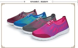 Wholesale Beijing Summer - 2016 summer tennis shoes lady sports shoes flat shoes mesh breathable mesh shoes old Beijing shoes