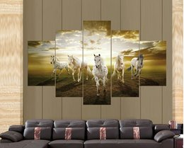 Wholesale Cheap Large Canvas Oil Painting - High Quality Cheap Price Art Pictures Running Horse Large HD Modern Home Wall Decor Abstract Canvas Print Oil Painting F 751