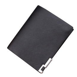Wholesale Vertical Ironing - South Korea's Edition Iron Clamp Color Edge Leather Wallet Vertical Horizontal Wallets 8 Styles A345