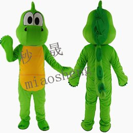Wholesale Fancy Dress Dragon - The green dragon mascot costume high quality fancy dress adult size party Halloween Manufacturer of custom