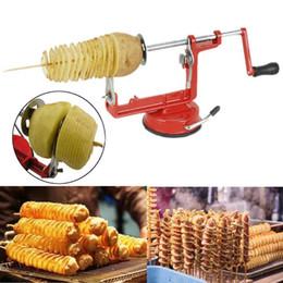 2019 faca espiral Cortador espiral torcido manual do cortador da batata do fruto de Veg do aço inoxidável manual