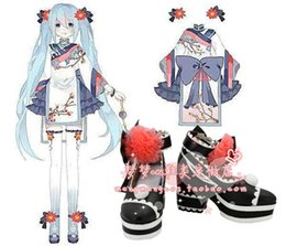 Wholesale Vocaloid Shoes - Wholesale-vocaloid plum MIKU Cosplay Boots shoes shoe boot #NC228 anime Halloween Christmas