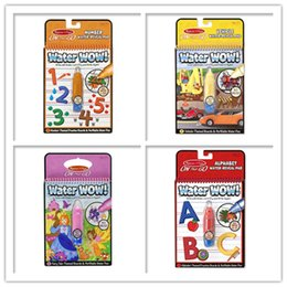 Wholesale Wholesale Kids Toys Books - Reusable Pen Aqua Coloring Book Doodle Arts Drawing Writing On The Go Water Wow Bundle Paint Board Toys for Children Kids DHL free