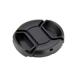 Wholesale Lens Cap 49 - Buckle Camera Front Lens Cap With Anti-lost Rope Protection Holder Cover 49 52 55 58 62 67 72 77 lens cover provide choose