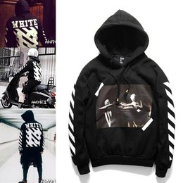 Wholesale Visions Painting - 2016 OFF WHITE 13 mens pullover stripe offset print hoodies fleece Sweatshirts brand HBA Vision religion painting VIRGIL ABLOH
