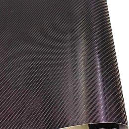 Wholesale auto body tips - 4D 152CM x 30CM Car Carbon Fiber Vinyl Film Black 4D Colored Glossy Carbon Fiber Vinyl Film Auto Wrapping Vinyl Wrap Foil