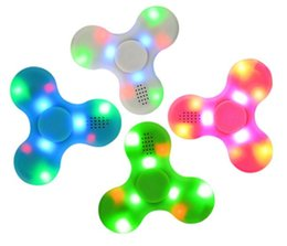 Wholesale Bluetooth Speakers For Kids - Fidget Spinner with Bluetooth audio Speaker and Led Light Fidget spinners For Decompression Anxiety Toys Hand Spinners USB