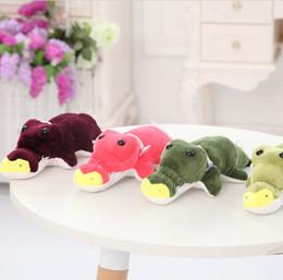 Wholesale Toy Crocodiles - 18cm 4 Colors Plush Toy Dolls kawaii Cayman Crocodile Plush Soft Stuffed Toys Gift for Kids