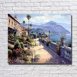 Wholesale Hand Made Landscape - Hand made Modern Landscape Wall Pictures for Living Room Decor Cheap Modern Oil Painting on Canvas No Framed