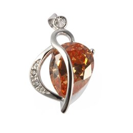 Wholesale Morganite Pendants - Copper Rhodium Plated Charm Pendants Morganite Cubic Zirconia Noble Generous MN875 Rave reviews Explosion models Recommend Shinning Fashion
