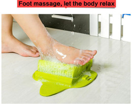 Wholesale Massage Feet Spa - Bath Blossom Foot Scrub Brush Exfoliating Feet Scrubber Spa Shower Adult Foot Massage Brush Remove Feet DEAD SKIN Cleaning Brush
