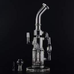 Wholesale Tools 65mm - Big Glass Bongs Water Pipes Percolator Smoke Tools 65mm tube Recyler 14mm Femal Joint whit dome and nail set