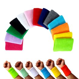 Wholesale Tennis Wristbands Wholesale - Wholesale-1 Pair Men&Women Wrist Support Gym Protector Wristbands 100% Cotton Weightlifting Wrist Support Wrist Brace Tennis Sweatbands