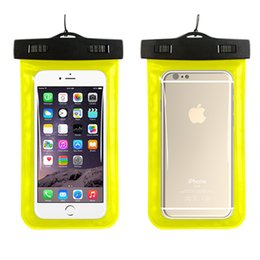 Wholesale transparent clear case wallet - Universal Dry Bag Waterproof case bag Phone Bag Pouch With Compass Bags For Diving Swimming For smart phone up to 5.8 inch