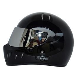 Wholesale Light Full Face Helmet - Cardin long life battery car stereo Bluetooth helmet motorcycle helmet Fiberglass helmet ATV-2 light black