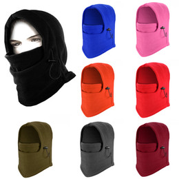 Wholesale Thermal Winter Hood - Fleece Thermal Balaclava Ski Snowboard Motorbike Cycling Mask Face Hood Hat