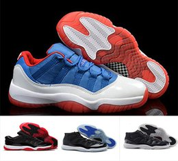 Wholesale Gym Rubber Bands - New retro 11 XI Basketball Shoes men women Space Jam 11s Bred Legend Blue Discount 72-10 Gym Red Sports Shoes Leather casual Shoes