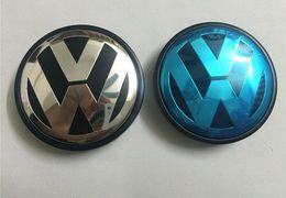 Wholesale Volkswagen Emblems Sale - Hot Sale 65mm Car Wheel Cover Badge Wheel Hub VW Center Caps Emblem For VW 2010 TOUARET
