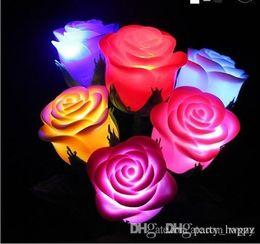 2019 salto di plastica all'ingrosso L1556 Rose delle rose da sogno Mai sbiadito delle rose Simulazione Amanti luminosi 58 Rose del fiore rosa delle fiabe Light Party da matrimonio Xmas String Battery Be