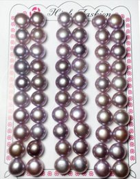 Wholesale Freshwater Pearls Loose Beads - Purple Freshwater Pearl Loose Beads Earring Beads For DIY craft Jewelry Earring Gift MP04 Free Shipping