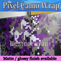 camuflagem Desconto Novo Tigre Digital roxo Camo envoltório De Vinil Camuflagem Para O Carro Completo barco corpo Envoltórios Do Caminhão cobrindo Fosco / brilhante 1.52x10 m / 20 m / 30 m / Roll