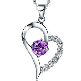 JLN вы единственный в моем сердце стерлингового серебра 925 ААА кубический Циркон сердце кулон ожерелье с Витой цепи для женщин