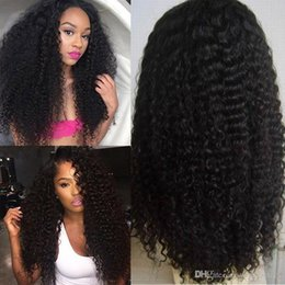Wholesale Long Hair Wigs Cheap - deep wave full lace wigs human hair wigs natural color unprocessed virgin hair wigs cheap price free shipping