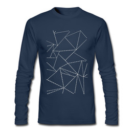 Wholesale New Stylish Clothes For Men - New modern men's tee shirt simple stylish long sleeve sports shirt for man breathable cotton clothes wholesale Abstract Dotted Lines Grey