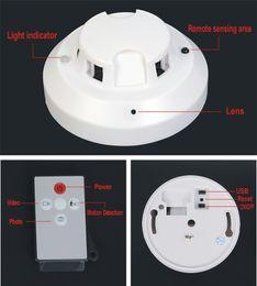 Wholesale Smoke Detector Video Recorder - NEW Remote Control Smoke Detector Camera Video Recorder Hidden Pinhole Camera Cheapest White HD Smoke DVR