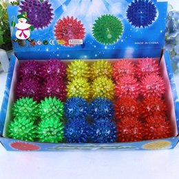 Wholesale Elastic Items - LED Elastic Light-up Spike Ball Pet Dog Cat Molar Rubber Flash Ball Entertained Toy Led Poms Cheer items DHL free
