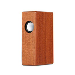 Wholesale Portable Stereo Amplifier - Creative Wood Induction Speaker Free Sound Amplifier Wooden Wireless Speaker Portable Stereo Speaker Wooden Magic Induction