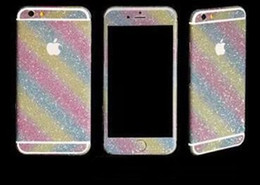 Wholesale Cell Phone Bling Stickers - Luxury Bling Crystal Diamond Screen Protector Film Sticker for Iphone 6 cell phone sticker decals and skins