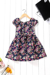 Wholesale Party Dress Manufacturers - 2015 New Manufacturers Selling Mens Kids Girls Floral Dress Printing Children Princess Skirts Leisure Party Dress.