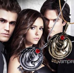 Wholesale Vervain Locket Elena - Movie Jewelry The Vampire Diaries necklace Elena Gilbert vintage vervain Locket verbena pendant necklaces statement jewelry necklaces