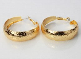 Wholesale Snake Design Earrings - New Trendy 18K Real Gold Plated Unique Snake Design Free Shipping Women Fashion Jewelry Wholesale Hoop Earrings For Women E3015