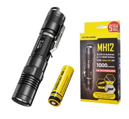 Wholesale Nitecore Rechargeable Flashlight - Nitecore MH12 1000 Lumens Rechargeable LED Flashlight - Upgrade of P12 MH10 MH25